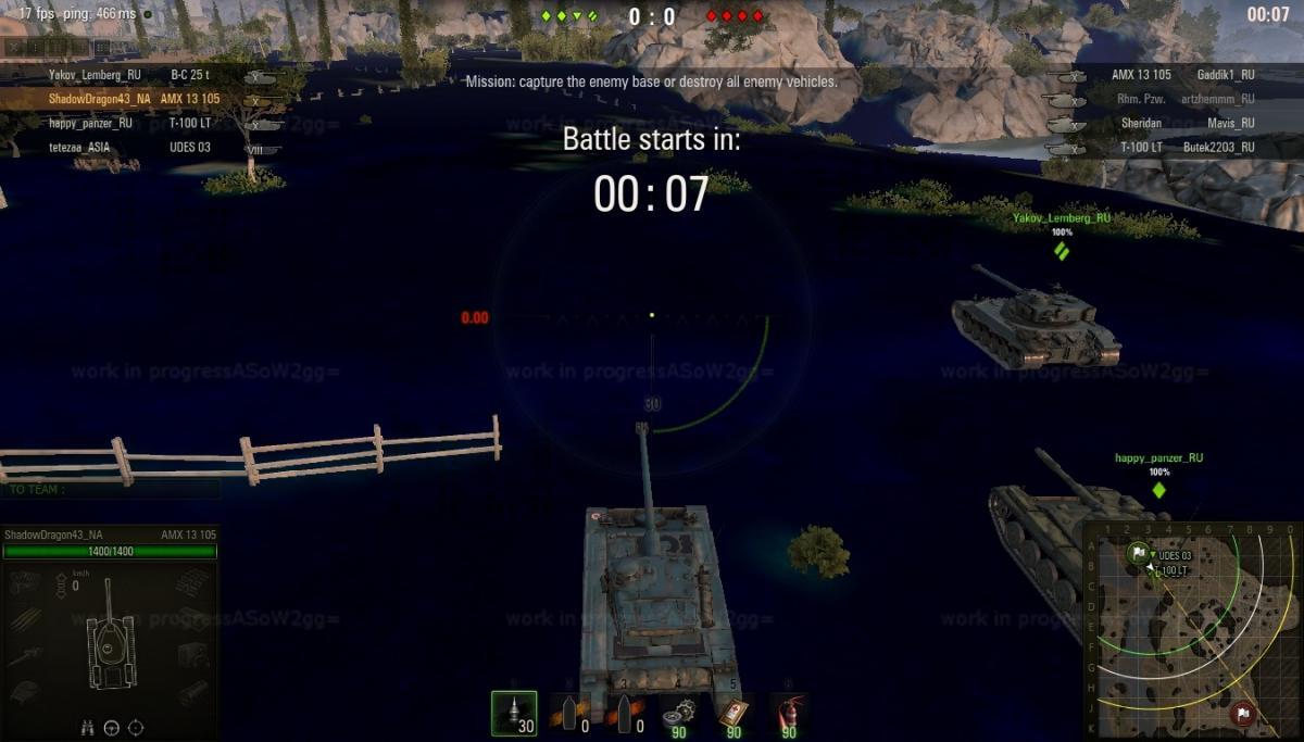 Purple terrain on mines map - Sandbox - World of Tanks